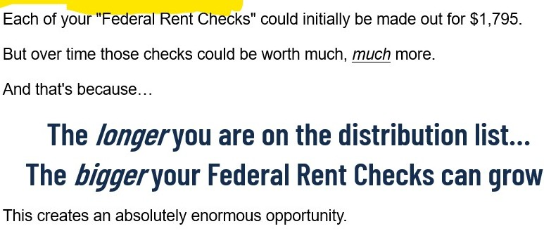 Is Federal Rent Checks Scam